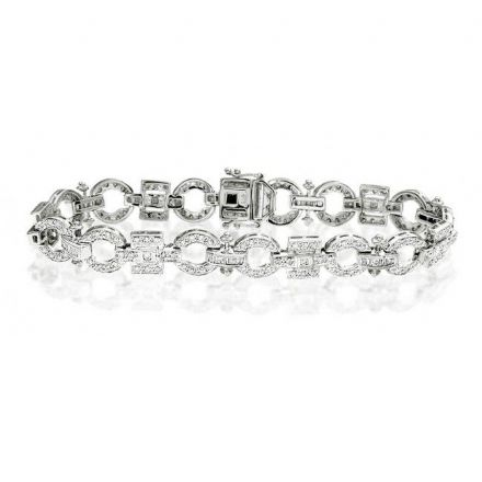 9K White Gold 0.95ct Diamond Bracelet, G1125